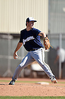 Milwaukee Brewers pitcher J.B. Kole (66) during an Instructional League game against the San Francisco Giants on October 10, 2014 at Maryvale Baseball Park Training Complex in Phoenix, Arizona.  (Mike Janes/Four Seam Images)