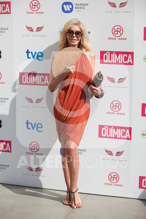 Bibiana Fernandez poses during the `Solo quimica´ film presentation in Madrid, Spain. July 14, 2015. (ALTERPHOTOS/Victor Blanco)