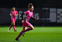 Ines Dhaou (5) of Sporting Charleroi pictured during a female soccer game between Sporting Charleroi and SV Zulte-Waregem on the 12 th matchday of the 2020 - 2021 season of Belgian Scooore Womens Super League , friday 29 th of January 2021  in Marcinelle , Belgium . PHOTO SPORTPIX.BE | SPP | DAVID CATRY