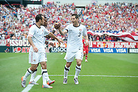 USA's Carlos Bocanegra celebrates after a goal against Turkey during an international friendly tune up match for the 2010 World Cup, at Lincoln Financial Field, in Philadelphia, PA, Saturday, May 29, 2010. USA defeated Turkey 2-1.
