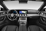 Stock photo of straight dashboard view of 2021 Mercedes Benz E-Class-Wagon E450-All-Terrain 5 Door Wagon Dashboard