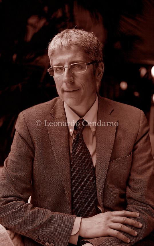 Mario Giordano, è un giornalista, scrittore, conduttore televisivo italiano, direttore del TG4 dal 27 gennaio 2014 al 6 maggio 2018 e dal giorno successivo direttore delle Strategie e dello Sviluppo dell'informazione Mediaset.Torino, 16 maggio 2011.  Photo by Leonardo Cendamo/Gettyimages