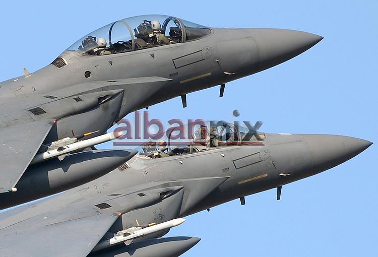 F15 Eagles set off from RAF Lakenheath for strikes on Libya