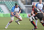 Connacht lock Aly Muldowney takes on Dragons number 8 Netani Talei.<br /> RaboPro 12<br /> Newport Gwent Dragons v Connacht<br /> Rodney Parade<br /> 23.03.14<br /> <br /> ©Steve Pope-SPORTINGWALES