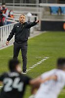 SAN JOSE, CA - OCTOBER 28: Real Salt Lake manager Freddy Juarez during a game between Real Salt Lake and San Jose Earthquakes at Earthquakes Stadium on October 28, 2020 in San Jose, California.
