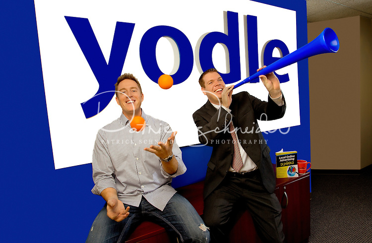 David Eaton, Sales Director, (left) and Glenn Normoyle Director of Business Development at Yodle, Charlotte, NC. Yodle is a leading local online advertising company with a simple mission: to connect local businesses with consumers so simply and cost-effectively that business owners can't imagine any other way to advertise..