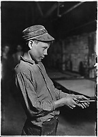 Carrying-in-boy- at the Lehr (15 years old). Has worked for several years. Works nine hours. Day shift one week... - NARA - Oct 1910