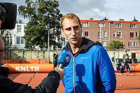 The Hague, The Netherlands, September 13, 2017,  Sportcampus , Davis Cup Netherlands - Chech Republic, Streettennis with Thiemo de Bakker (NED)<br /> Photo: Tennisimages/Henk Koster