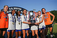 Kansas City, MO. - Wednesday July 11, 2018: US Soccer Girls' DA U-15 Championship Final match Legends FC vs FC Dallas at Swope Soccer Village.