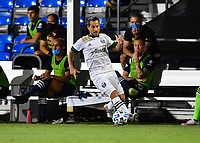 LAKE BUENA VISTA, FL - AUGUST 01: Sebastián Blanco #10 of the Portland Timbers runs with the ball during a game between Portland Timbers and New York City FC at ESPN Wide World of Sports on August 01, 2020 in Lake Buena Vista, Florida.