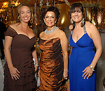 Chairs Julie Brown, Philamena Baird and Ellie Francisco at the Winter Ball held at the Hilton Americas Houston Saturday Jan. 10, 2009.(Dave Rossman/For the Chronicle)