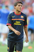 FC Barcelona midfielder Jonathan Dos Santos (18) Manchester United defeated Barcelona FC 2-1 at FedEx Field in Landover, MD Saturday July 30, 2011.