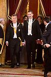 President of Argentine Republic, Mauricio Macri and King Felipe VI of Spain during the gala dinner given to the President of the Argentine Republic, Sr. Mauricio Macri and Sra Juliana Awada at Real Palace in Madrid, Spain. February 19, 2017. (ALTERPHOTOS/BorjaB.Hojas)