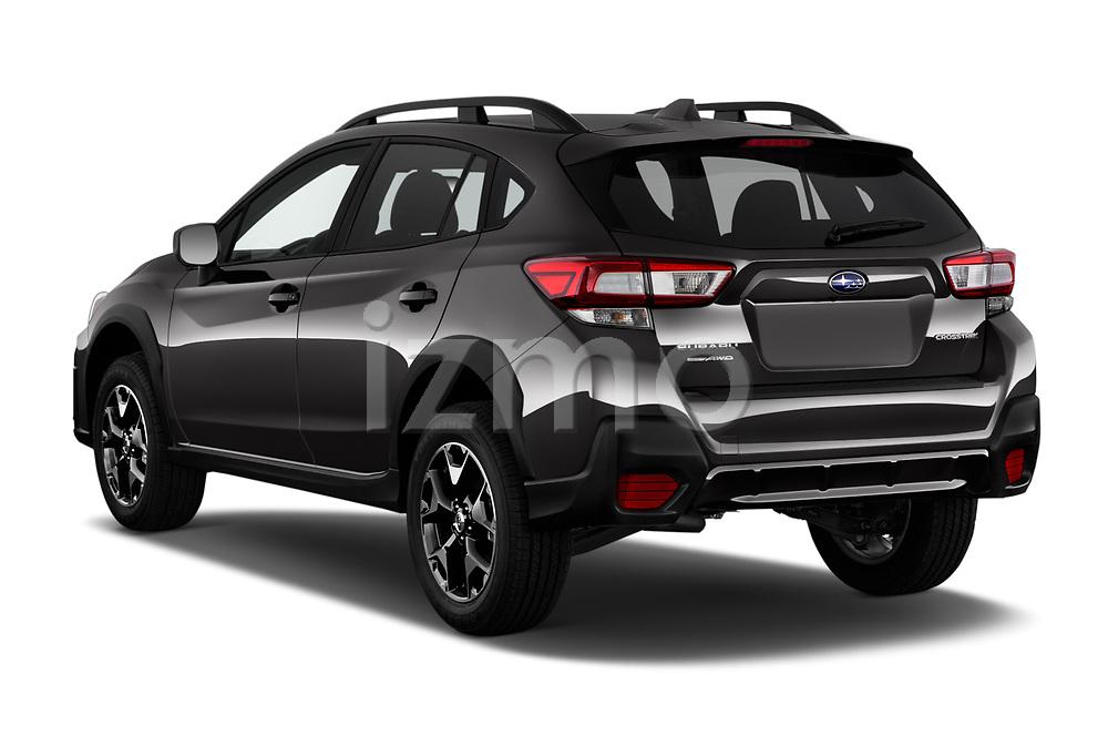 Car pictures of rear three quarter view of 2020 Subaru Crosstrek Premium 5 Door SUV Angular Rear