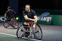 Rotterdam, The Netherlands, 5 march  2021, ABNAMRO World Tennis Tournament, Ahoy,  Quarter final wheelchair: Tom Egberink (NED) / Maikel Scheffers (NED).<br /> Photo: www.tennisimages.com/henkkoster