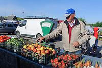 Markt in Jurbarkas, Litauen, Europa