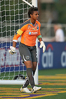 Philadelphia Independence goalkeeper, Karina LeBlanc (23), patrols her goal area.  Atlanta and Philadelphia played to a 0-0 draw in the season opener for both teams at John A Farrell Stadium in West Chester, PA.