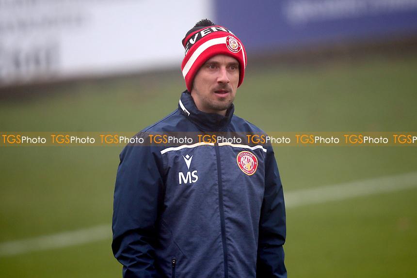 Mark Sampson of Stevenage during Stevenage vs Swansea City, Emirates FA Cup Football at the Lamex Stadium on 9th January 2021