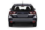 Straight rear view of 2021 Subaru Impreza - 5 Door Hatchback Rear View  stock images