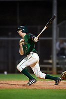 Dartmouth Big Green shortstop Nate Ostmo (5) at bat during a game against the Northeastern Huskies on March 3, 2018 at North Charlotte Regional Park in Port Charlotte, Florida.  Northeastern defeated Dartmouth 10-8.  (Mike Janes/Four Seam Images)