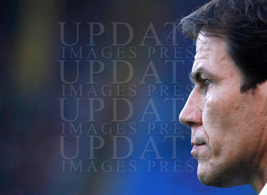 Calcio, Serie A: Roma vs Empoli. Roma, stadio Olimpico, 17 ottobre 2017.<br /> Roma's coach Rudi Garcia waits for the start of the Italian Serie A football match between Roma and Empoli at Rome's Olympic stadium, 17 October 2015.<br /> UPDATE IMAGES PRESS/Isabella Bonotto