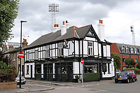 Brentford is famous for being the only football ground in England that has a pub at every corner. The Brook is recently refurbished and was previously known as The Royal Oak during Brentford vs Charlton Athletic, Sky Bet EFL Championship Football at Griffin Park on 7th July 2020