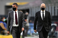 Paolo Maldini and Ivan Gazidis of AC Milan look on prior to the Serie A football match between FC Internazionale and AC Milan at stadio San Siro in Milano (Italy), October 17th, 2020. Photo Image Sport / Insidefoto