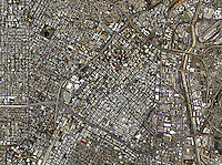 aerial photo map of downtown Los Angeles, California, 2005.  For more recent aerial photo maps of Los Angeles, please contact Aerial Archives.