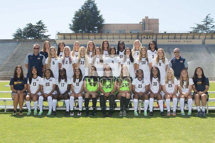 Berkeley, Ca - August 7, 2016: Cal Womens Soccer 2016 Team Photo.