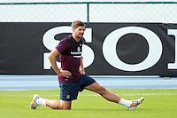 Steven Gerrard of England during training