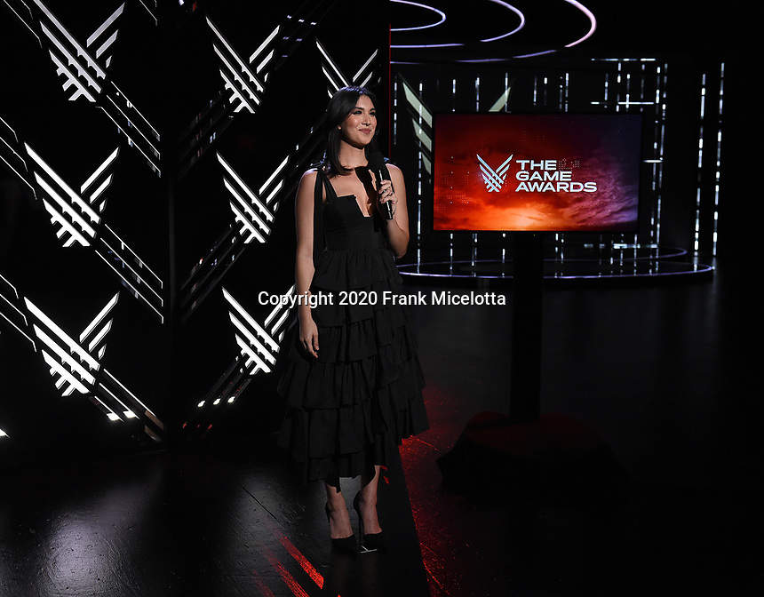 "HOLLYWOOD, CA - DECEMBER 10: Sydnee Goodman hosts ""The Game Awards 2020"" pre-show in Hollywood, California on December 10, 2020. (Photo by Frank Micelotta/PictureGroup)"