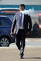 "COPY BY TOM BEDFORD<br /> Pictured: Kamrul Islam arrives at Merthyr Magistrates Court, Wales, UK. Monday 03 April 2017<br /> Re: Chef Kamrul Islam who attacked a client with chilli powder is due to appear before Merthyr Tydfil Magistrates Court.<br /> David Evans was at the Prince of Bengal restaurant on Saturday night when the incident took place.<br /> The 46-year-old was out for dinner with his wife Michelle when they were asked by a waiter if they were enjoying their curry.<br /> The couple said they told the waiter their meal was ""tough and rubbery"" and he passed the complaint onto the head chef.<br /> Michelle said chilli powder was then thrown into her husband's eyes and he was taken to hospital."