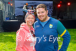 Enjoying the Anseo open air concert in Pearse Park on Saturday, l to r: Christina Kuulme and Denis O'Shea from Camp.