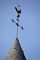 Europe/France/Limousin/19/Corrèze/Collonges-la-Rouge : Clocher de l'église Saint-Pierre