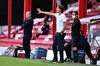 Steve Cooper Head Coach of Swansea City during the Sky Bet Championship Play Off Semi-final 2nd Leg between Brentford and Swansea City at Griffin Park in Brentford, England, UK. 29th July, 2020