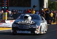 Sep 27, 2013; Madison, IL, USA; NHRA pro stock driver Vincent Nobile during qualifying for the Midwest Nationals at Gateway Motorsports Park. Mandatory Credit: Mark J. Rebilas-
