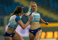 1st May 2021; Silesian Stadium, Chorzow, Poland; World Athletics Relays 2021. Day 1; Jessie Knight of Great Britain hands the baton to Jessica Turner in the 4 x 400 heats