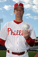 Feb 20, 2009; Clearwater, FL, USA; The Philadelphia Phillies pitcher Jamie Moyer (50) during photoday at Bright House Field. Mandatory Credit: Tomasso De Rosa/ Four Seam Images