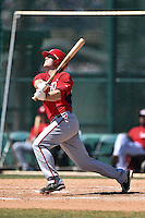 Washington Nationals outfielder Will Piwnica-Worms (27) during a minor league spring training game against the Atlanta Braves on March 26, 2014 at Wide World of Sports in Orlando, Florida.  (Mike Janes/Four Seam Images)