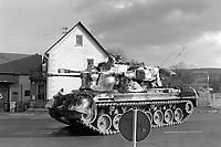 - NATO exercises in Germany, self-propelled anti-aircraft gun of German Army (January 1985)<br /> <br /> - esercitazioni NATO in Germania, carro semovente contraereo Gepard dell'esercito tedesco (Gennaio 1985)