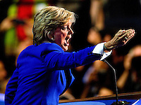 Former Michigan governor Jennifer Granholm speaks at the Democratic National Convention at Time Warner Cable Arena in Charlotte, N.C.