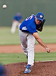 Fort Worth Cats Pitcher Phillip Bartleski (35) in action during the American Association of Independant Professional Baseball game between the Grand Prairie AirHogs and the Fort Worth Cats at the historic LaGrave Baseball Field in Fort Worth, Tx. Fort Worth defeats Grand Prairie 8 to 7...