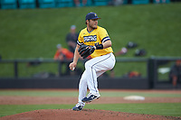 UNCG Spartans relief pitcher Brandon Stephens (14) in action against the San Diego State Aztecs at Springs Brooks Stadium on February 16, 2020 in Conway, South Carolina. The Spartans defeated the Aztecs 11-4.  (Brian Westerholt/Four Seam Images)