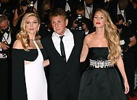 CANNES, FRANCE. July 10, 2021: Katheryn Winnick, Sean Penn & Dylan Penn at the Flag Day Premiere at the 74th Festival de Cannes.<br /> Picture: Paul Smith / Featureflash