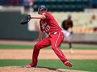 Vero Beach Indians pitcher Jake Nolan (17) during the 42nd Annual FACA All-Star Baseball Classic on June 6, 2021 at Joker Marchant Stadium in Lakeland, Florida.  (Mike Janes/Four Seam Images)