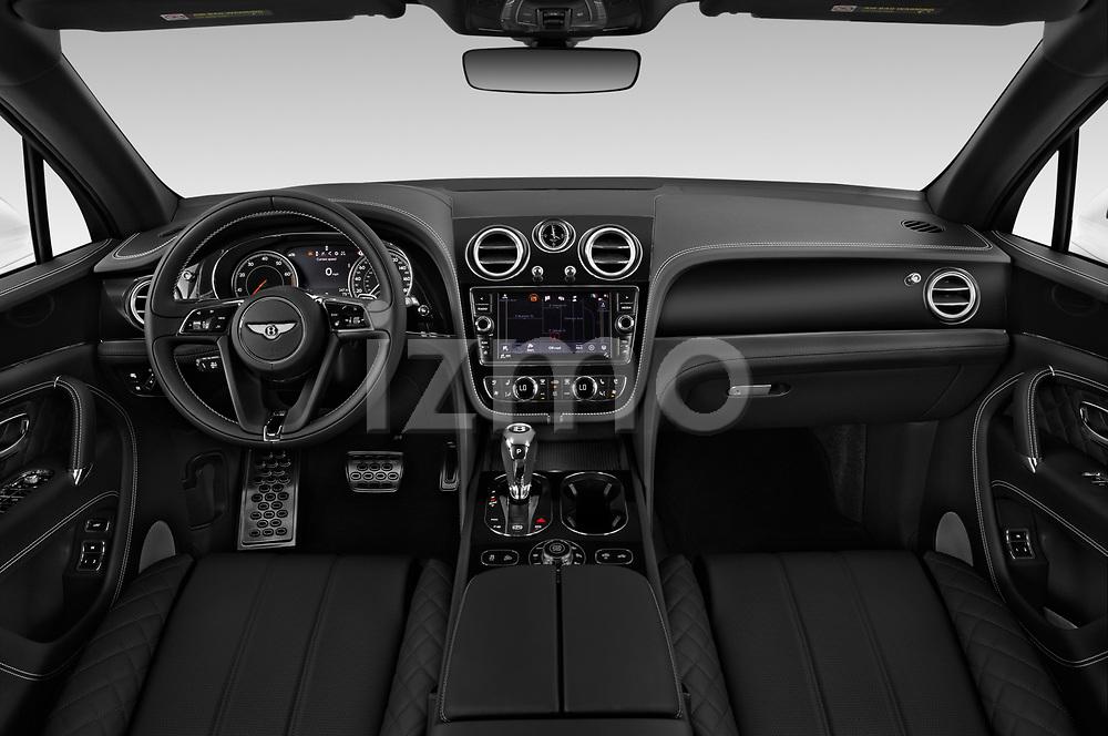 Stock photo of straight dashboard view of 2019 Bentley Bentayga 4wd 5 Door SUV Dashboard