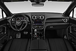 Stock photo of straight dashboard view of 2019 Bentley Bentayga 4wd 5 Door SUV Dashboard