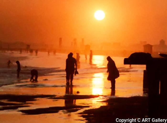 Seal Beach Sunset #9, Seal Beach in Summer, CA.
