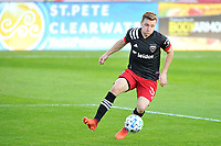 WASHINGTON, DC - NOVEMBER 8: Julian Gressel #31 of D.C. United moves the ball during a game between Montreal Impact and D.C. United at Audi Field on November 8, 2020 in Washington, DC.