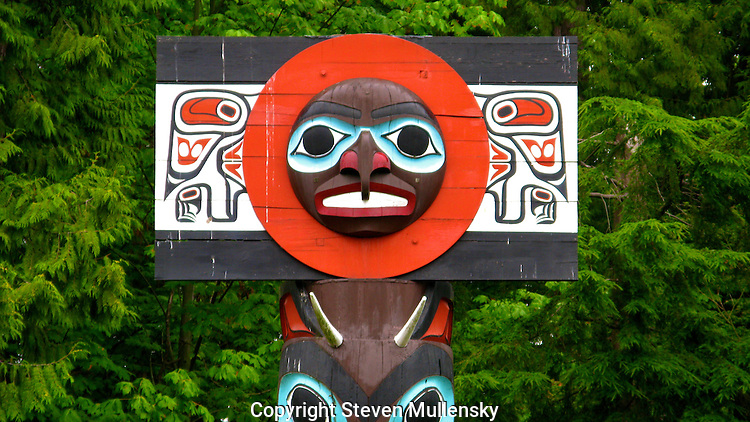 Totem from the totem pole park in Vancouver, BC, Canada